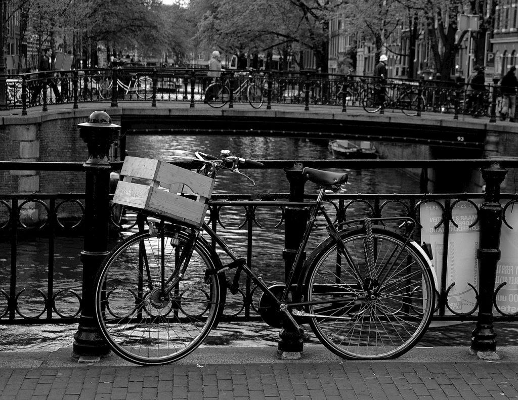amsterdam, canal, wheel